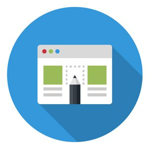 Pencil and computer learning program icon representing the value of continuous training.